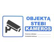 """Sticker """"Objektą stebi..."""